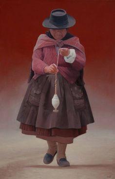 Art Péruvien, Peruvian Art, Peruvian Textiles, Mosaic Tile Art, Native American Paintings, Popular Art, Native Indian, Watercolor Portraits, Aboriginal Art