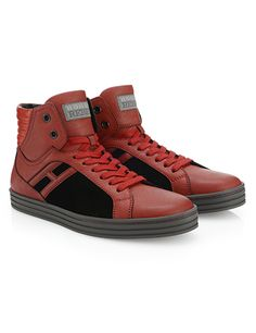 #HOGANREBEL Men's Fall -Winter 2013/14 #collection: leather and suede High-Top #sneakers R141.