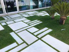 Landscaping Supplies, Modern Landscaping, Backyard Landscaping, Mosaic Walkway, Paver Walkway, Concrete Paver Patio, Garden Floor, Backyard Patio Designs, Garden Landscape Design