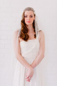 1920's Bridal Cap - Style #1305