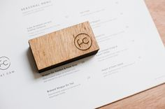 Wooden menu with heat stamp treatment for specialist beef restaurant Fat Cow designed by Foreign Policy Best websirte host with best price