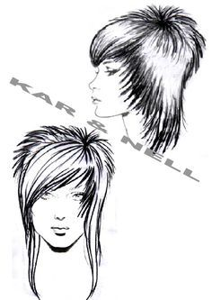 diagram of head for showing haircuts - Google Search