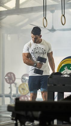 73c06f3dc2 Nick Cheadale pumping in the Gymshark Fitness T-Shirt