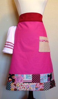 Black Butterfly print Kids apron Size 4-6-8
