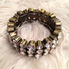 J Crew Brass / Gold Crystal Bracelet J Crew brass / gold crystal bracket. Like the bracelet, but not the price? Please feel free to make an offer : ) J. Crew Jewelry Bracelets