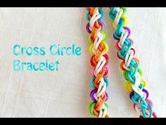Rainbow Loom Bracelet: New Pattern Cross Circle - Kreabarn.dk har Danmarks største udvalg af tilbehør og elastikker til loom, fun loom og rainbow loom.