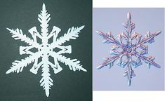 DIY: Snowflakes including step-by-step instructions on how to cut the paper and how to make your own snowflake pattern