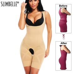 ad4279f5b Women Full Body Shaper Seamless Firm Control Faja Waist Cincher Underbust Waist  Trainer Corset Girdle Bodysuit
