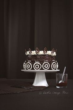 A little bit huge cake, with homemade OREO cookies. by csokiparany, via Flickr