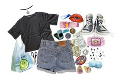 """""""Horror Hottie"""" by ilana140 ❤ liked on Polyvore featuring Levi's and vintage"""
