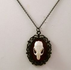 LOVED TO DEATH Taxidermy Jewelry Mouse Skull...