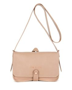 MARKUN | Leather stab stitch bag - Natural | Bags | Ted Baker