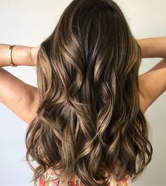 Natural Brunette   Brown Hair Color With Highlights   Balayage and Signature Lowlights,Balayage Hair Colors #haircolor #brownhair #highlighthair #babylights #hairpainting #ombre #balayageombre #blonde #balayagehighlights #balayage