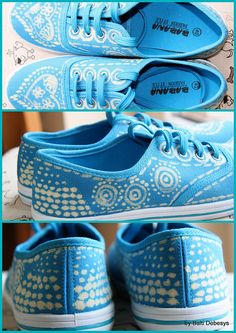 Bleach painted shoes | Flickr - Photo Sharing!