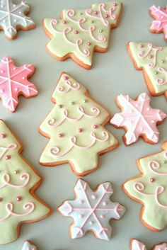 Christmas cookie decorating ideas.