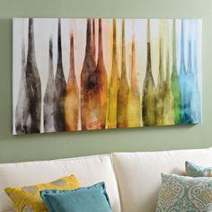 Abstract Wine Bottles Canvas Art Print | Kirklands Dining Room Decor