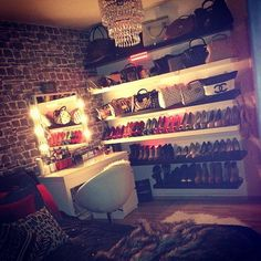 perfect dressing room :) I have to pin this again , this is exactly what I want for my room!!!