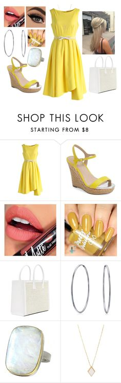 """Yellow Summer Dress"" by cass-23 ❤ liked on Polyvore featuring Chicwish, Charles by Charles David, Fiebiger, Bling Jewelry and Jamie Joseph"