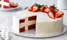 Se her: Sådan laver du en dannebrogskage 🇩🇰 Danish Cake, Danish Food, 90th Birthday Cakes, Flag Cake, Star Food, Recipes From Heaven, Occasion Cakes, Party Cakes, Yummy Cakes