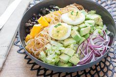 Vegetarian Cobb Salad with Crispy Shallots & Deviled Eggs