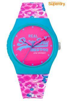 Superdry Urban Floral Pink Watch