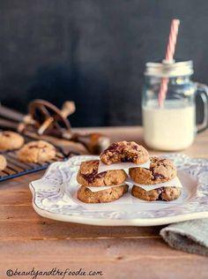 Easy Chocolate Chunk Nut Butter Cookies grain free paleo, low carb, vegetarian. beautyandthefoodie.com