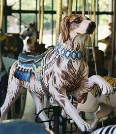 Golden Gate Park Carousel Herschell-Spillman Dog 3rd Row Jumper