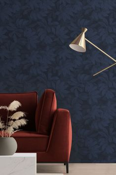 Drawing inspiration from jungle flora and fauna, this bold and indulgent design showcases gorgeous depth and dimension. Please note: This design is wide width. Seen here in the Navy colourway. See the full collection on WallpaperDirect now! Hallway Wallpaper, Navy Wallpaper, Blue Wallpapers, Showcase Design, Flora And Fauna, The Conjuring, True Colors, Ted Baker, Shadows