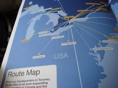 Taking a look at airline route maps. I like the subtle stylization here. Porter Airlines, Maps, Chicago, Graphics, Graphic Design, City, Blue Prints, Cities, Printmaking