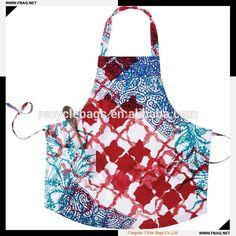 dc8e1781a1a2 100% QC custom make waterproof pvc garden apron Hand Printed Fabric
