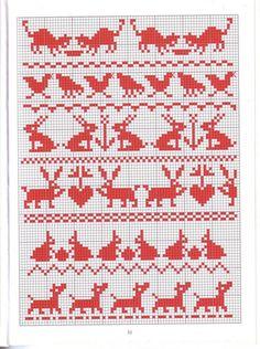 Krustdūrienu raksti - Rokdarbu grāmatas un dažādas shēmas Seed Bead Patterns, Beading Patterns, Cross Stitch Patterns, Knitting Charts, Knitting Patterns, Crochet Patterns, Fair Isle Chart, Xmas Stockings, Needlepoint Stitches