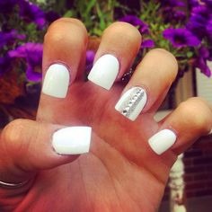 White with silver and bling