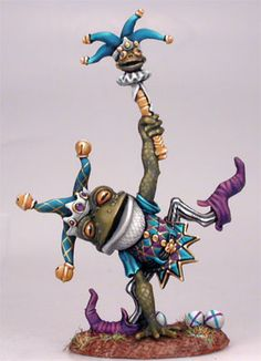 Frog Jester - Critter Kingdoms™ Anthropomorphic Animals - Miniature Lines