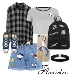 """""""#Florida"""" by yasminsourani ❤ liked on Polyvore featuring Paul & Joe Sister, WithChic, Casetify, Converse, Mini Cream and ASOS"""