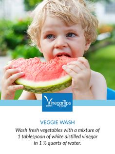 Toddlers and Gardening. Helping a garden grow is a great way for your littles to improve their motor skills and appreciate growing (and eating) fruits and veggies! Here's a vinegar tip for washing produce before eating.