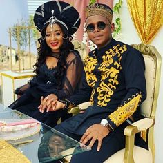 Image may contain: one or more people and people sitting African Inspired Fashion, African Men Fashion, African Beauty, Womens Fashion, Pedi Traditional Attire, Lioness Quotes, African Traditional Wedding Dress, Elegant Gown, African Weddings