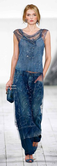 I love the sexy, sumptuous, silky luxury mixed with soft cotton and blue jeans casual in this collection. The layers are light and breezy. The last