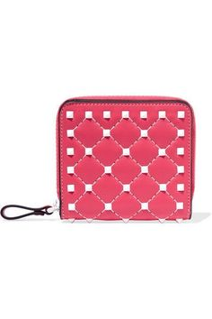 Panettone Spiked Metallic Suede Continental Wallet - Pink Christian Louboutin Y7ajLiM