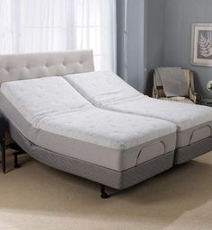 """Whether you are sleeping, lounging, or working in your bed, you'll enjoy the pressure-relieving comfort of Gel- Memory Foam adjusted to the position that is just right for you with the Novaform 12"""" Serafina™ Split King Adjustable Mattress. Specially designed to work with an existing adjustable frame, this mattress bundle creates a Split King to give you the optimal combination of relaxation and individualized comfort."""