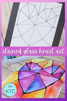 Valentine's Day Crafts For Kids, Diy Arts And Crafts, Easy Art For Kids, Art Kids, Easy Valentine Crafts, Valentines Art, Stained Glass Crafts, Easy Art Projects, Glue Crafts