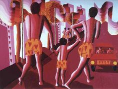 gay family paintings two men and women razing a child queer families painting homosexual artworks