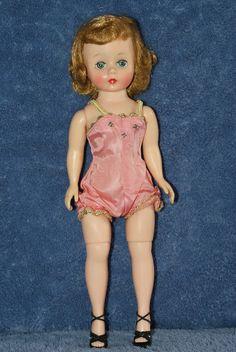 """Vintage 9"""" Madame Alexander Cissette Doll Wearing Original Pink Sunsuit"""
