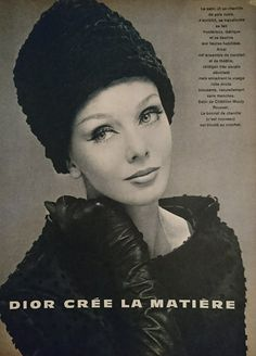 Dior par Yves Saint Laurent. Haute couture automne /hiver 1960/61. Vogue France Septembre 1960.