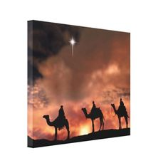 8296af1ef6e The Three Wise Men following the star to Bethlehem. Three Wise Men