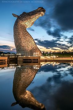 The Kelpies at Twilight, Scotland by Karen McDonald on 500px