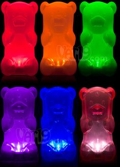 GummyLamp: The Gummy Bear Nightlight.  Squeeze the belly to turn it on/off. $27.99