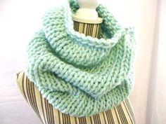 SCIARPA lana grossa / ADELE / acquamarine maglia di AloneMavi
