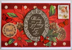 A  Card by Kelly-ann Oosterbeek made using the Letters 2 Santa Collection from Kaisercraft. www.kellyanno.com
