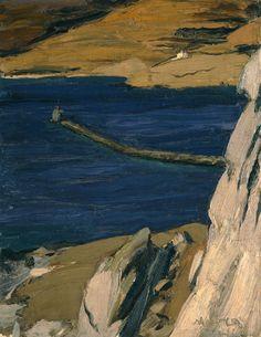 "bofransson: "" The Lighthouse, Nikolaos Lytras "" Greek Paintings, France Art, Greek Art, 10 Picture, Tumblr, Chiaroscuro, Color Of Life, Greek Islands, Disney Art"