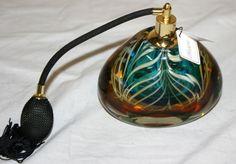 Murano Art Glass Perfume Bottle W/ Silk Atomizer